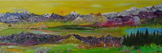 Bild Nr. 298, Format 90/30, Berge Dreidimensional, Preis Fr. 1'200.00