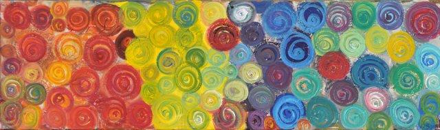 Bild Nr. 47, Format 100/30, Farbenkreis-Vielfalt, Preis Fr. 480.00