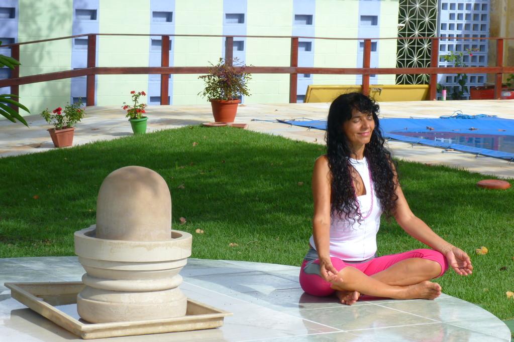 Meditação ao lando do Shiva Linga