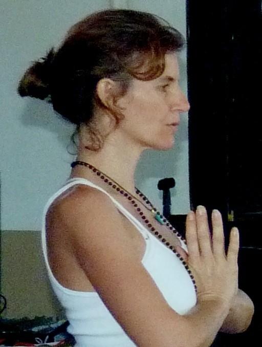 Iniciando a aula com gayatri Mantra