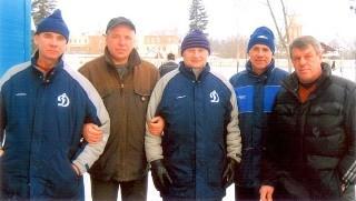 cлева-направо: Владимир Харёв, Сергей Корнеев, Георгий Канарейкин, Констанин Морозов (Обухово) и Владимир Плавунов