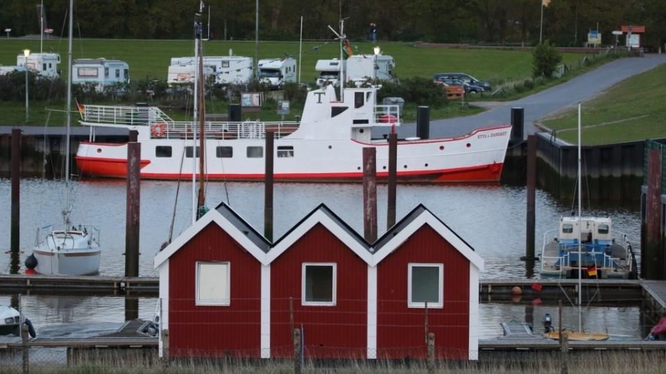 Etta von Dangast im Hafen