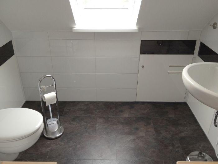 Neues Gäste-WC im Dachgeschoss