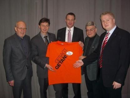 v.l.n.r.: Klaus Plonka, Harald Lenßen, Philipp Kraft, Klaus Franzen, Markus Nacke