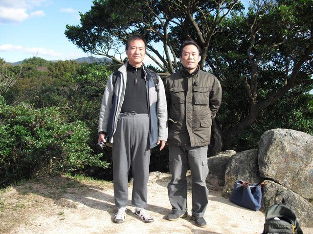 四王子山頂での個人指導の際の一枚