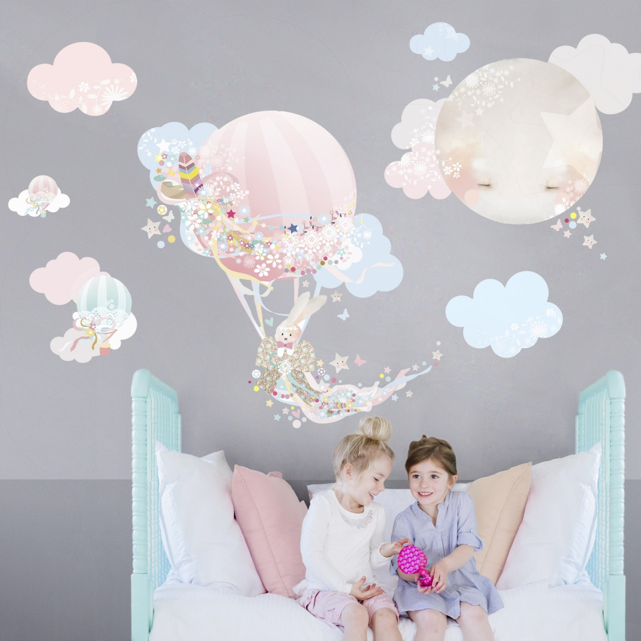 I M Fabric And Reusable Wahooo Magical Balloon Wall Decal Sticker