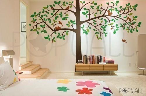 4 Leafy Tree Leafy Dreams Nursery Decals Removable Kids
