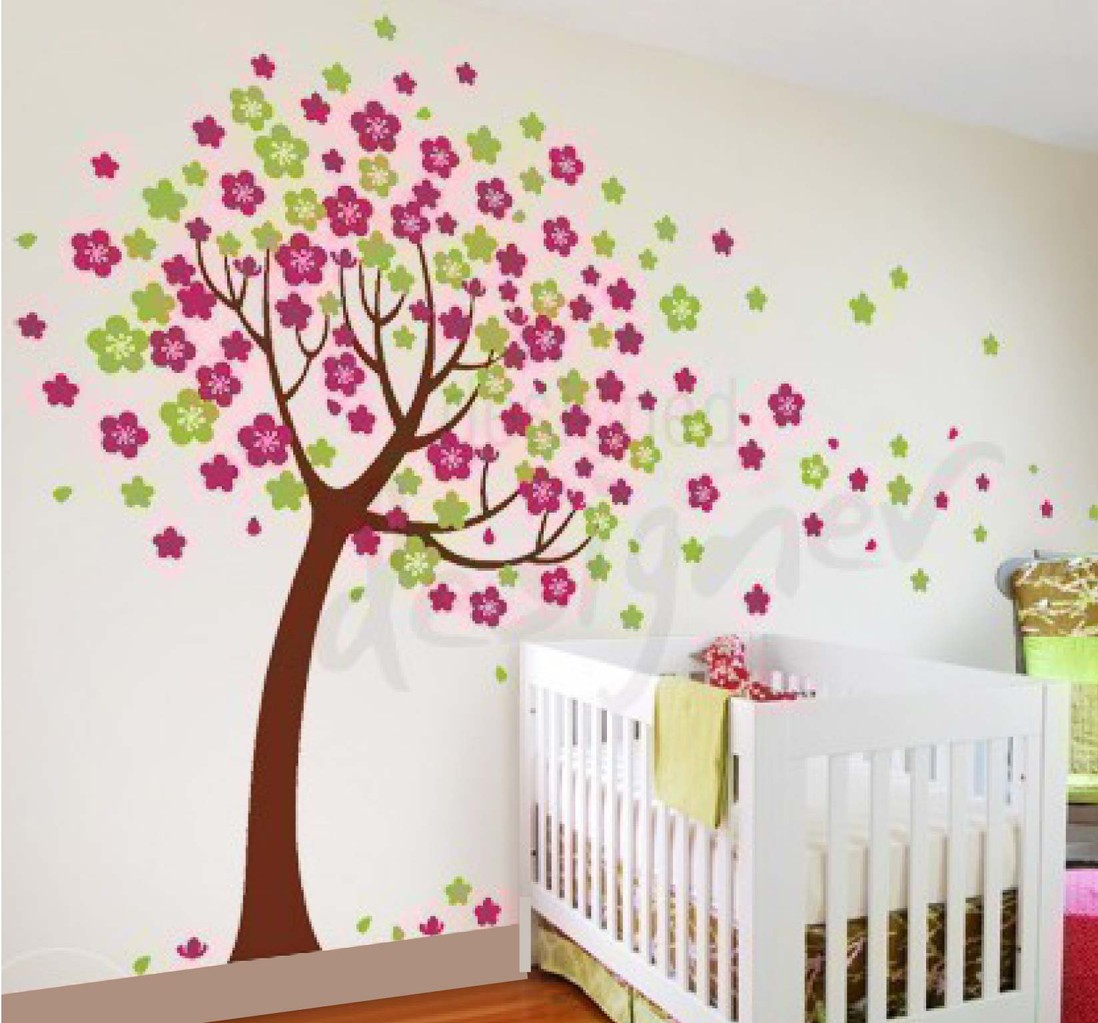 6 cherry blossom tree leafy dreams nursery decals removable cherry blossom tree wall decal wall sticker amipublicfo Image collections