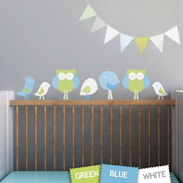 Birds And Owls Wall Decal Wall Sticker Part 51