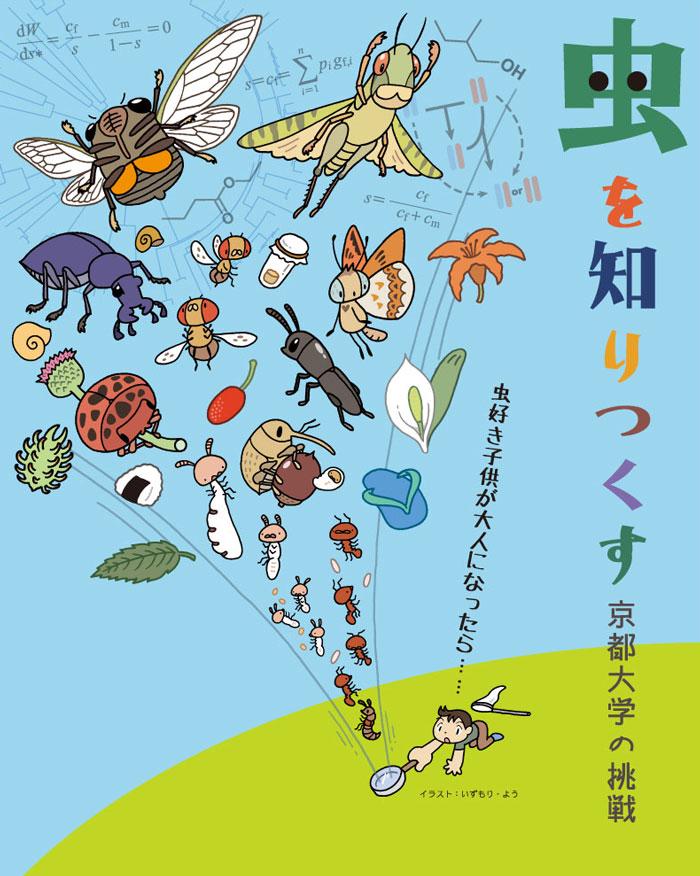 京都大学総合博物館「虫を知りつくす」展 キービジュアル 2016年