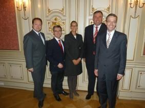 Dittmar Lemke, Hjalmar Stemmann MdHB, Christine Ström, Roger Zörb und Dr. Philipp Steinwärder v.l.n.r.