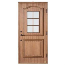 寒冷地仕様 65ミリ厚 スウェーデン輸入玄関木製ドア