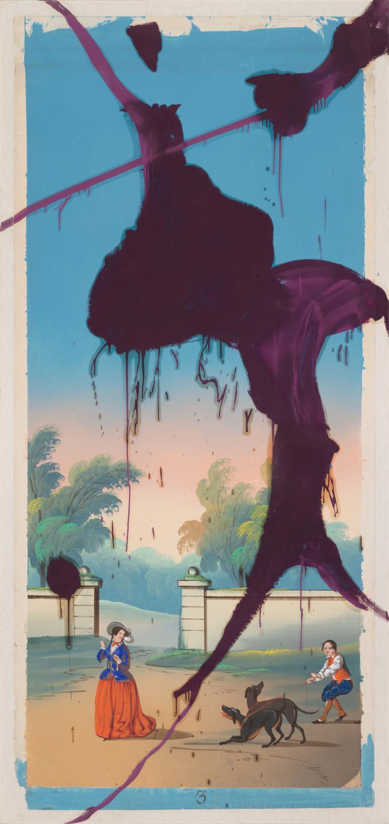 The Sky Is Falling III, 2018, Pigmentdruck mit Siebdruck auf Büttenpapier, 63,5 x 135 cm, Auflage: 25 arabisch, signiert, datiert & nummeriert
