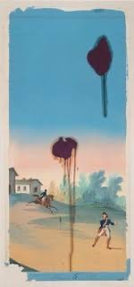 The Sky Is Falling II, 2018, Pigmentdruck mit Siebdruck auf Büttenpapier, 63,5 x 135 cm, Auflage: 25 arabisch, signiert, datiert & nummeriert