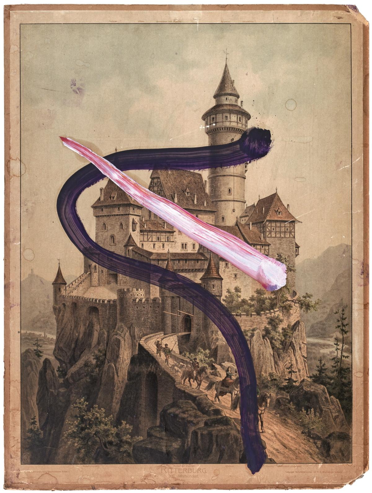 Untitled (Ritterburg), 2016, Pigmentdruck auf Faserpapier, kaschiert auf Karton, 80 x 107 cm, Auflage: 60 + AP, signiert, arabisch nummeriert