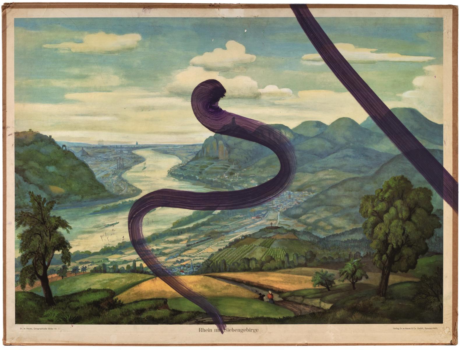 Untitled (Rhein mit Siebengebirge), 2016, Pigmentdruck auf Faserpapier, kaschiert auf Karton, 107.5 x 80.5 cm, Auflage: 60 + AP, signiert, arabisch nummeriert