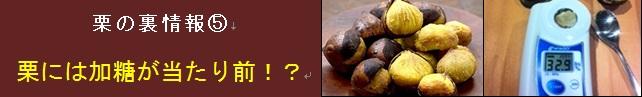【松尾栗園】栗の裏情報⑤ 栗には加糖が当たり前!?