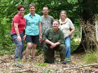 Von links nach rechts: Christine Hikade, Alexandra Schneider, Hans-Jörg Freiling, Uwe Müller (vorne), Monika Freiling