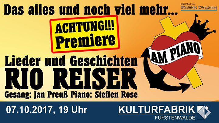 Premiere 07.10.2017 19 Uhr Kulturfabrik Fürstenwalde