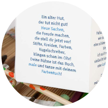 HÜPFinsBUCH Textimpuls | © duKUNSTamoi ... | Tatjana Zinner