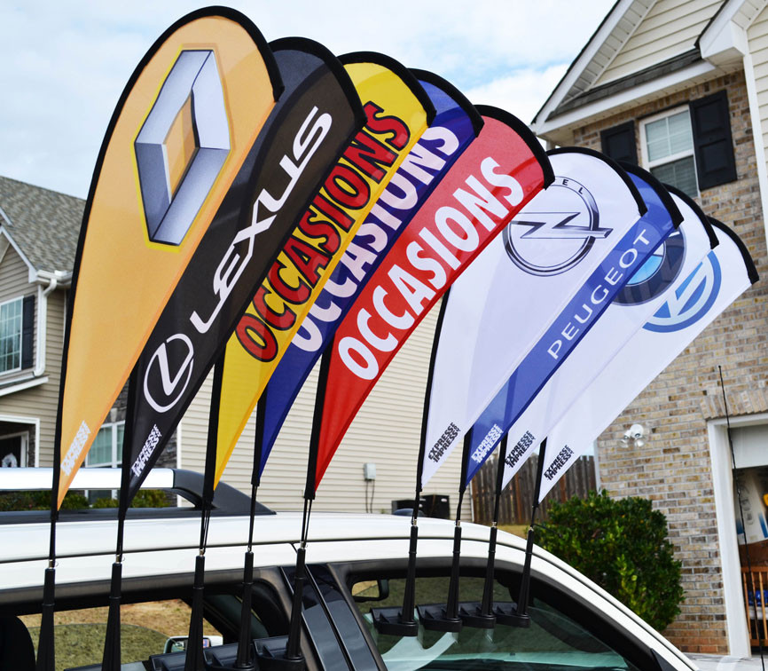 CAR WING WINDOW FLAG CUSTOM PADDLE Flags and Dealer Flags ...