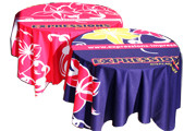 Table throws and table cloths printed