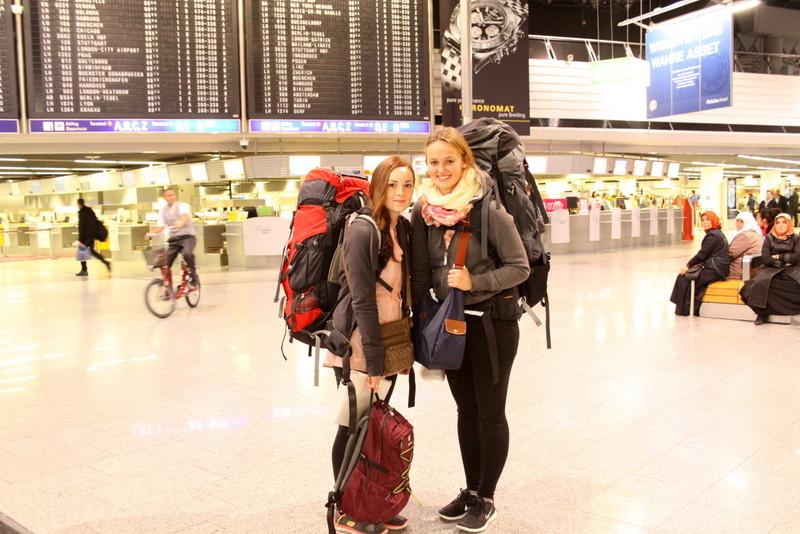 Abreise in Frankfurt