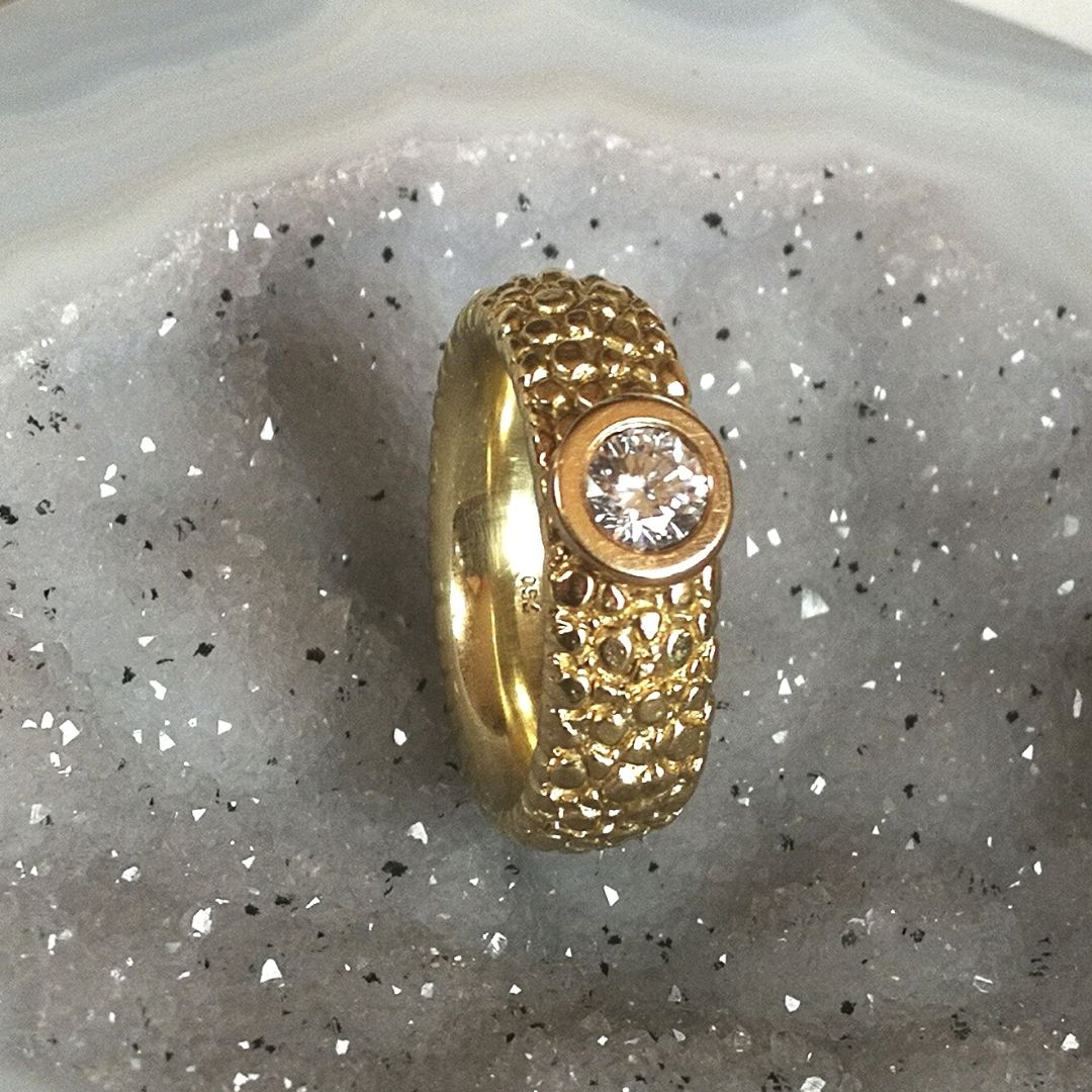 """Solitär-Ring """"Rochie"""" mit Diamant"""