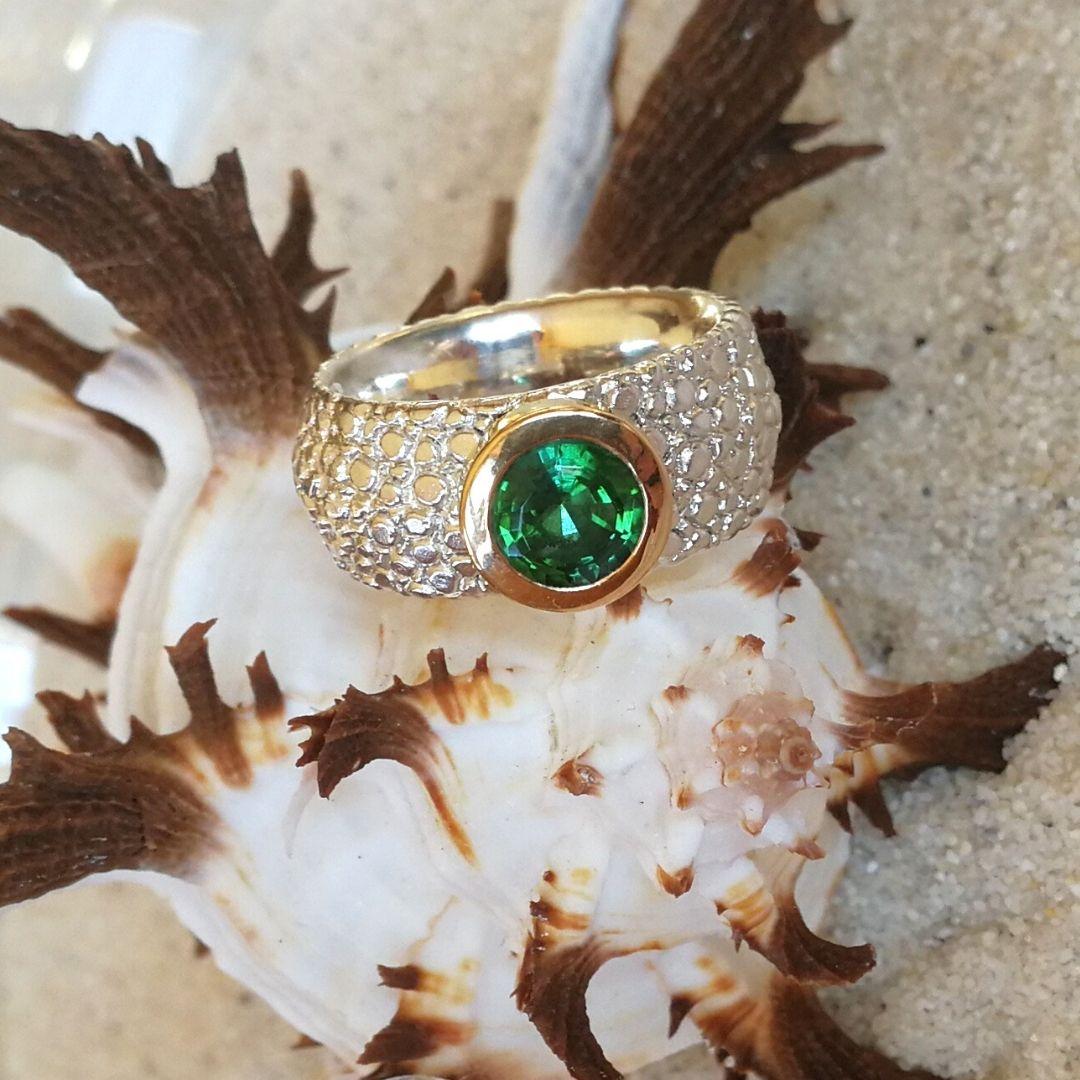 "Ring ""Rochie"" mit Turmalin grün"