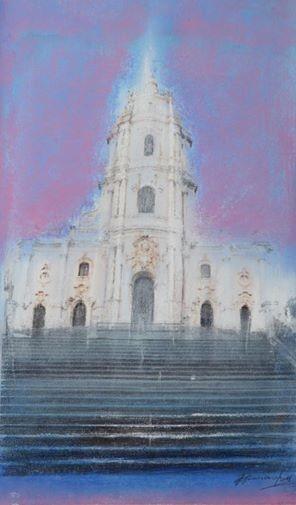 GIOVANNA GENNARO.Omaggio alla chiesa di S.Gennaro,Pastel on paper