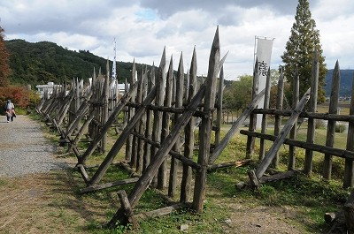 石田三成の陣地に造られた馬防柵。