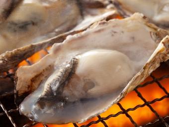 浜焼きの牡蠣