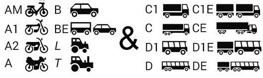 Führerscheinklassen, für welche ein Erste Hilfe Kurs erforderlich ist