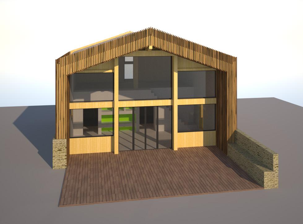 maison passive dans les landes cazaentre architecte. Black Bedroom Furniture Sets. Home Design Ideas
