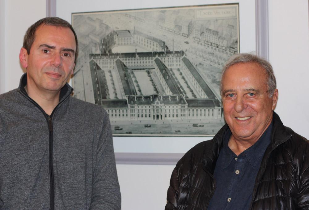 Daniel HECHTER et le Stanislas TRINSSOUTROP président de l'AALVP