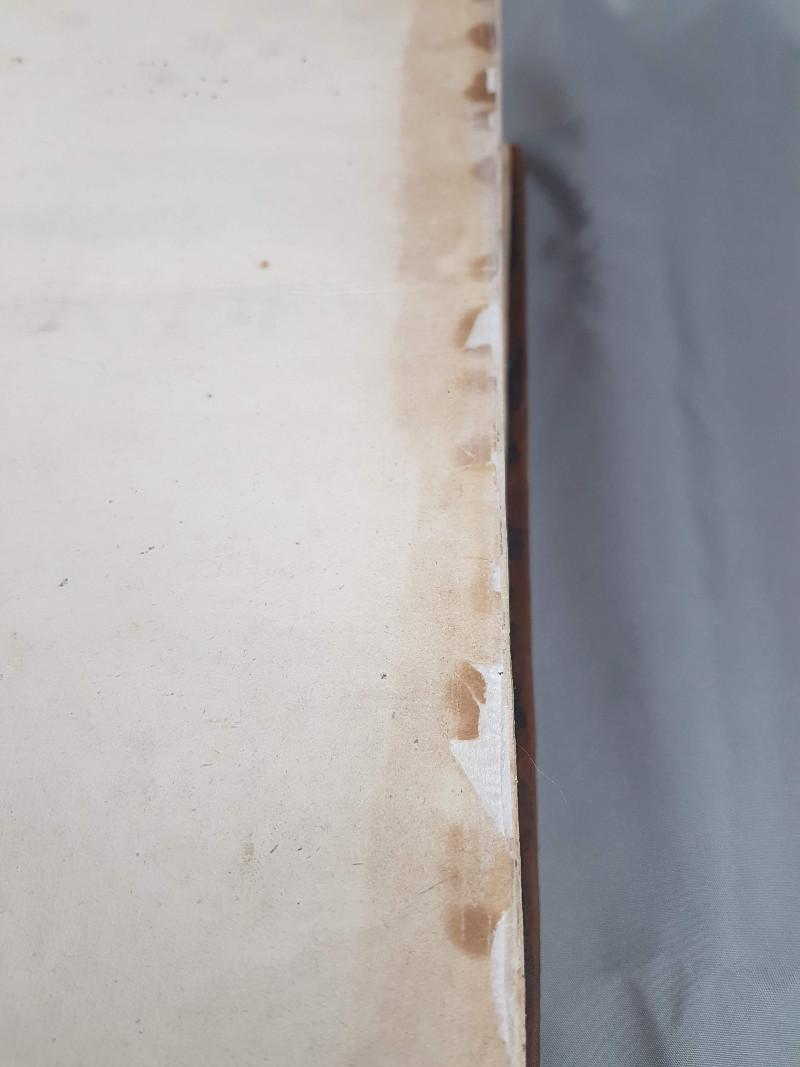 Papierrestaurierung: Blattkanten mit Japanpapier eingefasst