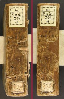 Buchrestaurierung Pergamenteinband: vorher-nachher