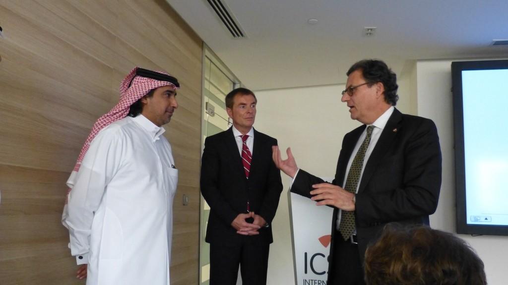 Gespräch mit dem International Centre for Sport Security in Doha: President und Founder Mohammed Hanzab und Executive Director Helmut Spahn