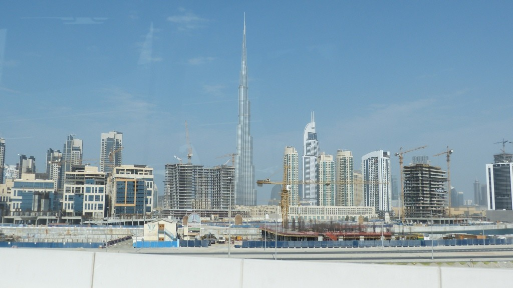 Die Skyline von Dubai