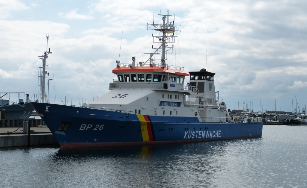 """Ostsee-Ausfahrt mit dem Einsatzschiff """"Eschwege"""" der Bundespolizei See"""