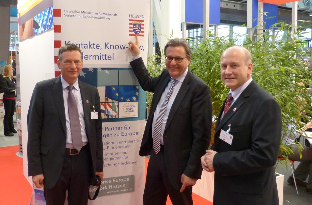 Kontakte, Know-how, Fördermittel: Hans-Joachim Otto im Gespräch mit Jürgen Schilling und Wolf-Martin Ahrend von der HA Hessen Agentur GmbH