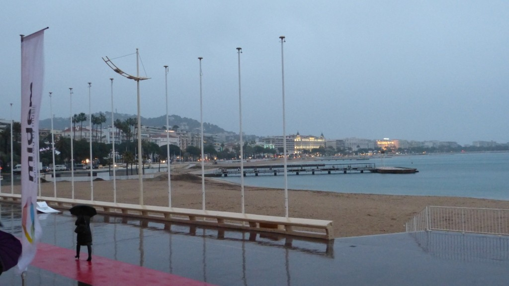 Die Croisette im Regen, Cannes 2012