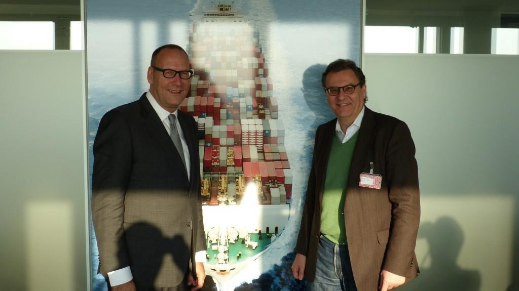 Erik van der Noordaa, Vorstandsvorsitzender des Germanischen Lloyds (GL), und Hans-Joachim Otto.