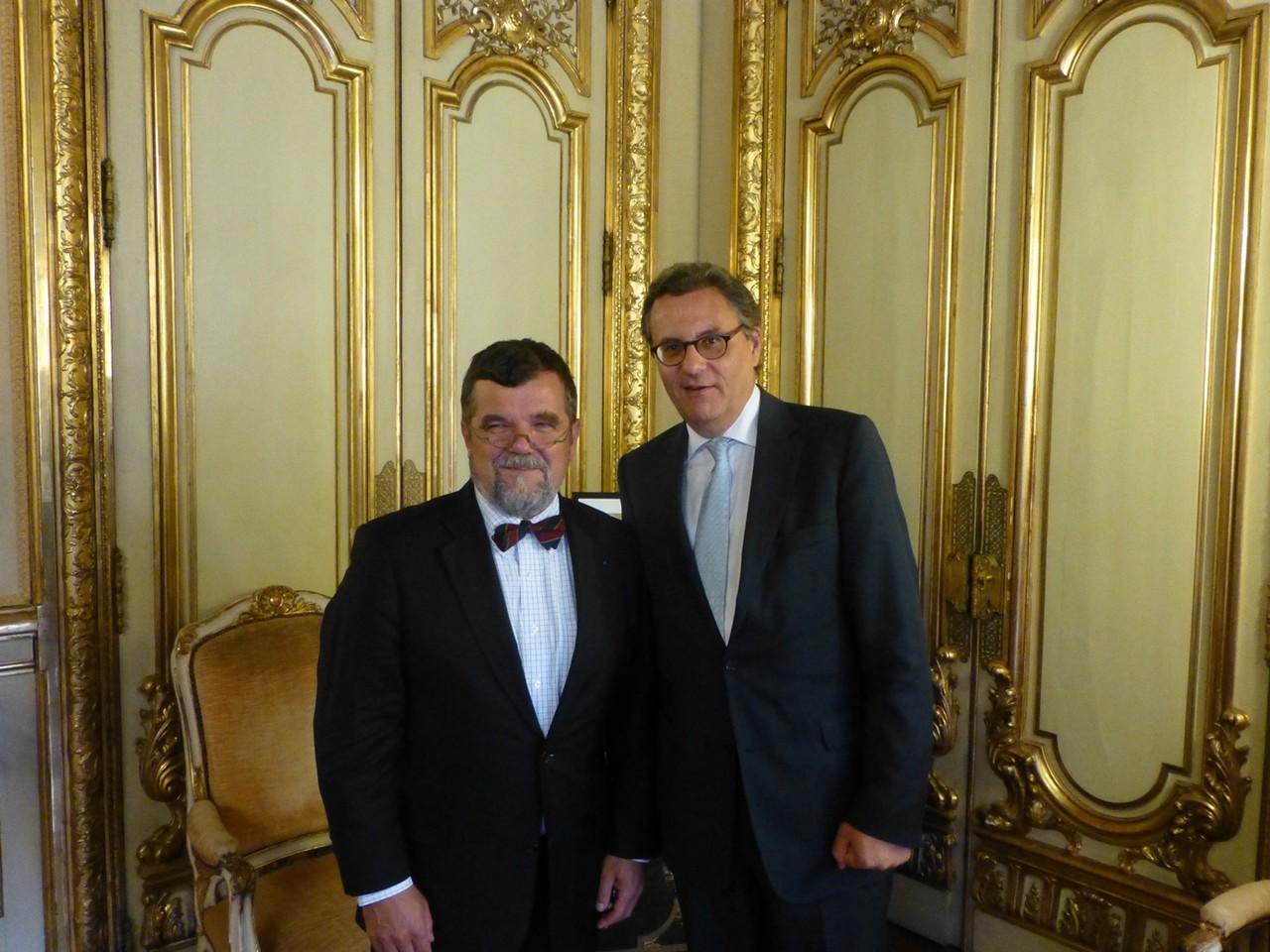 Paris, mit dem Präsidenten der IHK Paris Ile-de-France, Pierre-Antoine Gaill