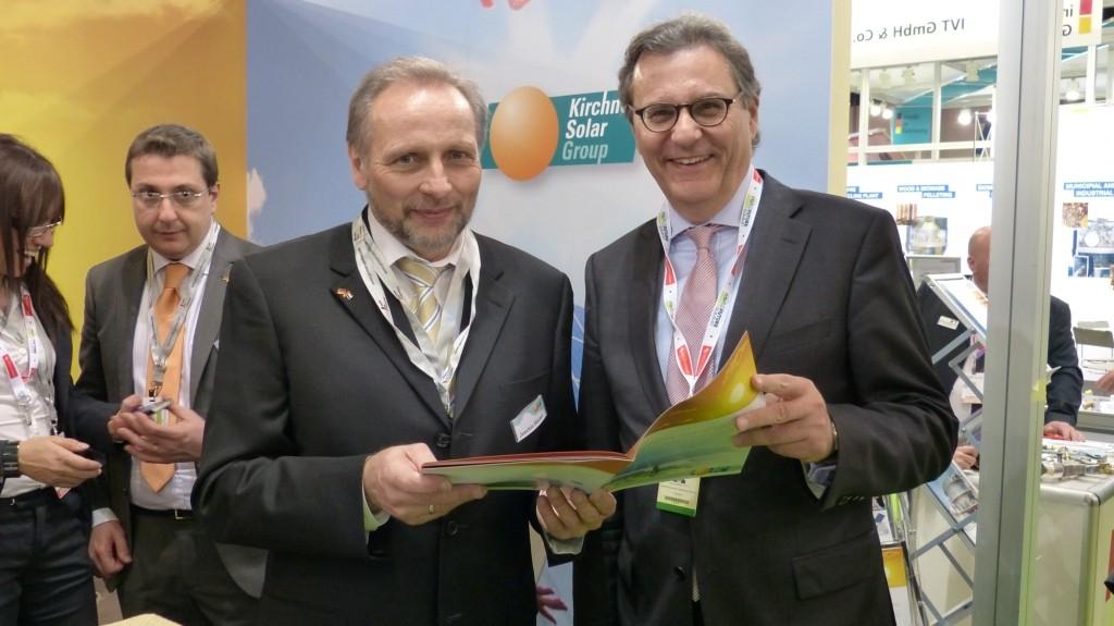 Am Stand der Kirchner Solar Group GmbH