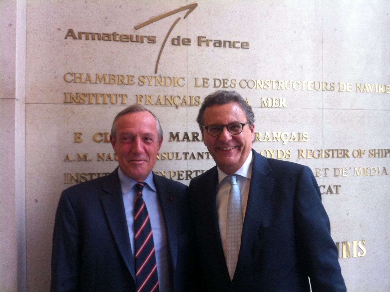 Paris, mit Francis Vallat, President des Cluster Maritime Franca