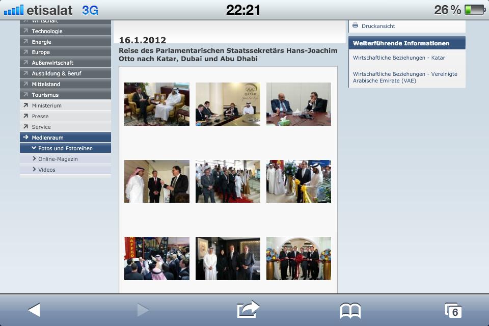 Weitere Bilder finden Sie auf der Website des Wirtschaftsministeriums...