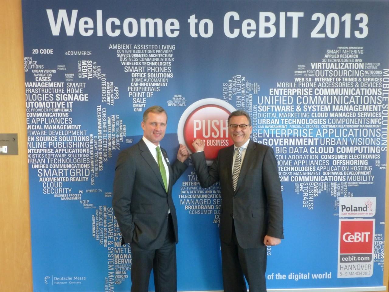 Welcome to CeBIT 2013: Treffen mit dem Vorstandsvorsitzenden der Deutsche Messe Hannover, Dr. Wolfram von Fritsch
