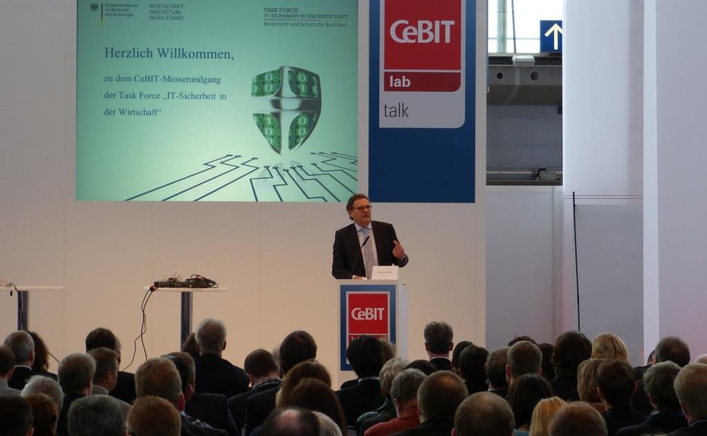 """Rede zur Eröffnung des CeBIT-Messerundgangs der BMWi-Task Force """"IT-Sicherheit in der Wirtschaft"""