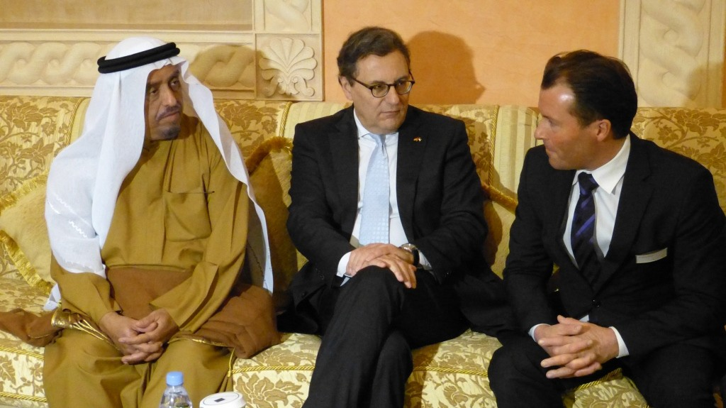 Gespräch mit dem Polizeichef von Dubai und dem Chef der Messe Frankfurt, Wolfgang Marzin